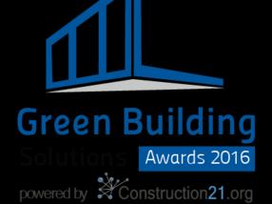 Concours Green Building Solutions Awards 2016