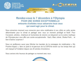 Invitation de Naturadream à la COP21